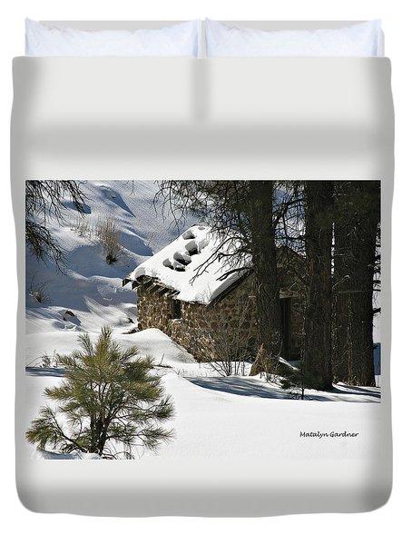 Snow Cabin Duvet Cover