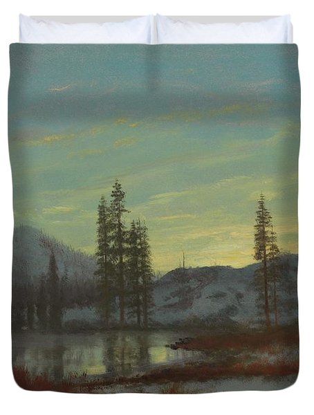 Snow In The Rockies Duvet Cover
