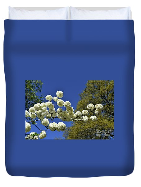 Duvet Cover featuring the photograph Snowballs by Skip Willits