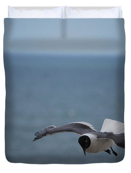 Duvet Cover featuring the photograph Soaring by Debbie Karnes