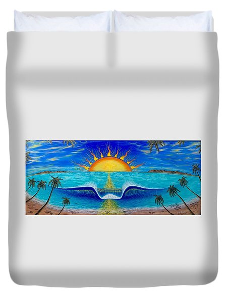 Socal Sunset Duvet Cover
