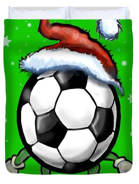 Soccer Christmas Duvet Cover by Kevin Middleton