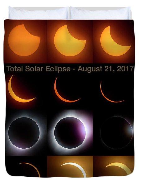 Solar Eclipse - August 21 2017 Duvet Cover by Art Whitton