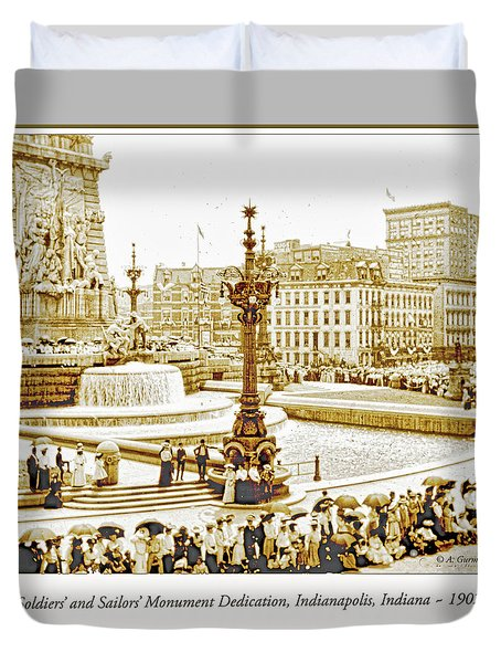 Soldiers' And Sailors' Monument Dedication, Indianapolis, Indian Duvet Cover by A Gurmankin