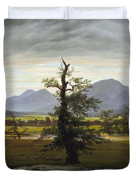 Solitary Tree Duvet Cover