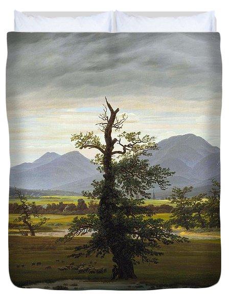 Solitary Tree Duvet Cover