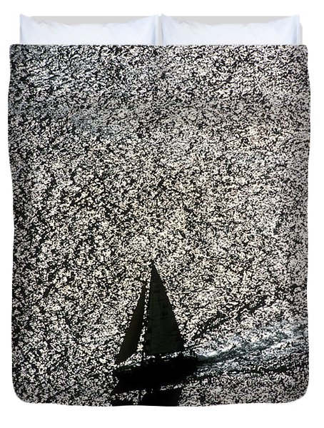 Sailing Into Solitude Duvet Cover