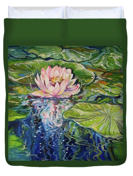 Solitude Waterlily Duvet Cover by Marcia Baldwin