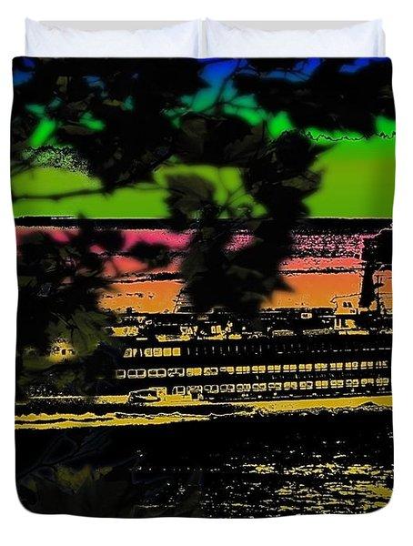 Soundside Treehouse View Duvet Cover by Tim Allen