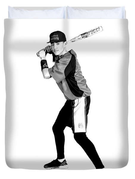 Duvet Cover featuring the digital art Southwest Aztecs Baseball Organization by Nicholas Grunas