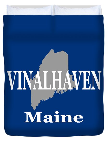 Duvet Cover featuring the photograph Southwest Harbor Maine State City And Town Pride  by Keith Webber Jr