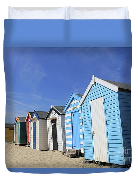 Southwold Beach Huts Duvet Cover