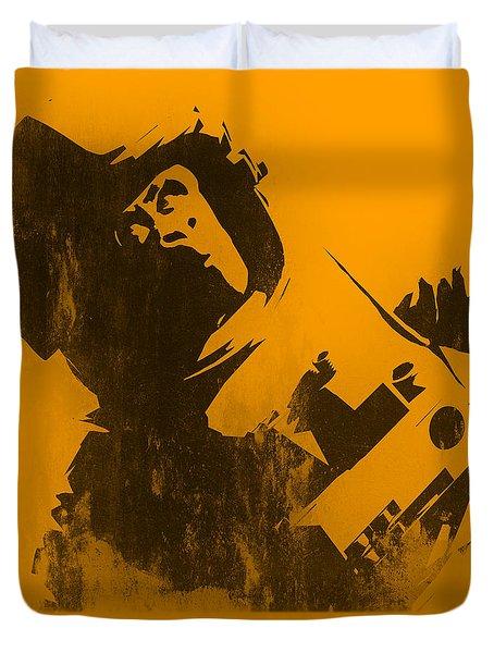 Space Ape Duvet Cover by Pixel Chimp