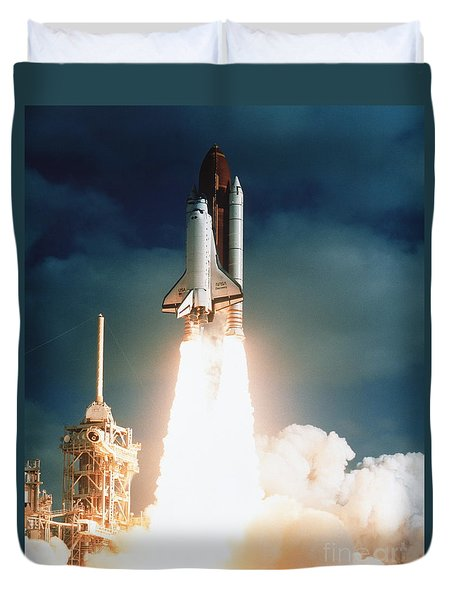 Space Shuttle Launch Duvet Cover