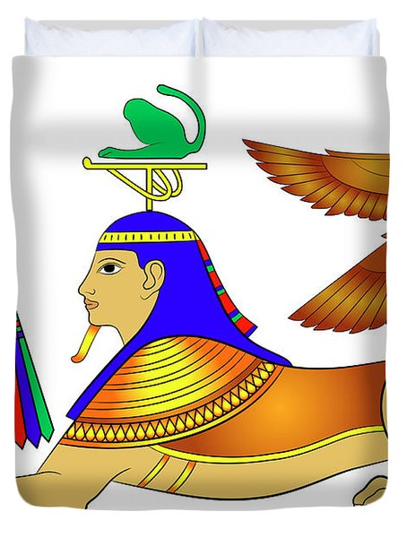 Sphinx - Mythical Creatures Of Ancient Egypt Duvet Cover by Michal Boubin
