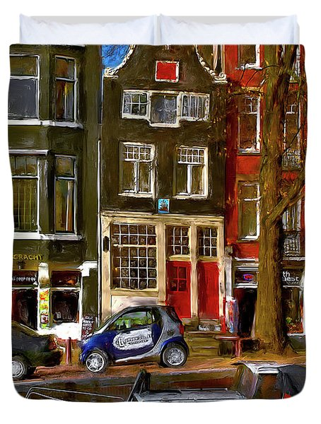 Spiegelgracht 6. Amsterdam Duvet Cover