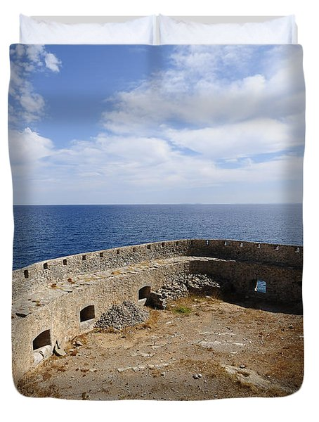 Spinalonga Duvet Cover