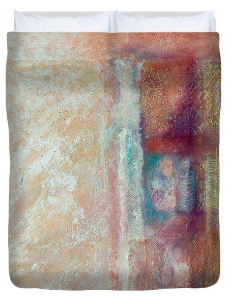 Spirit Matter Cosmos Duvet Cover by Kerryn Madsen-Pietsch