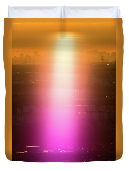Duvet Cover featuring the photograph Spiritual Light by Tatsuya Atarashi