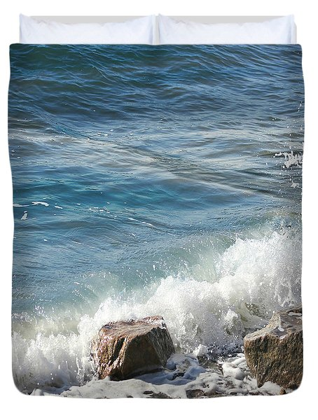 Splash Duvet Cover by Judy Palkimas