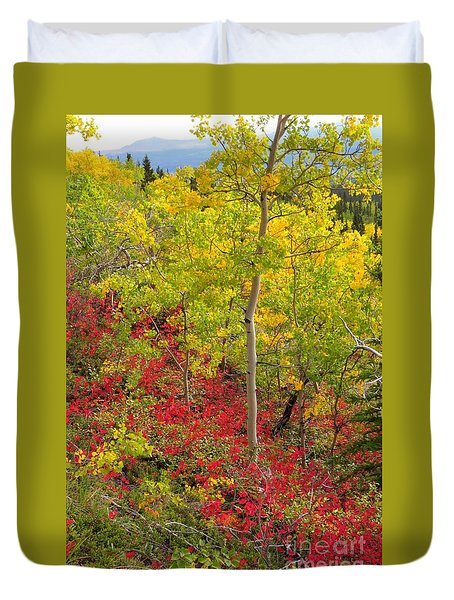 Splash Of Autumn Duvet Cover