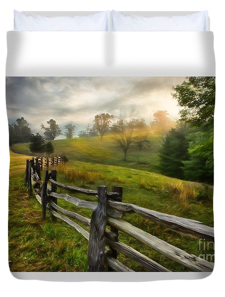 Splash Of Morning Light Ap Duvet Cover by Dan Carmichael