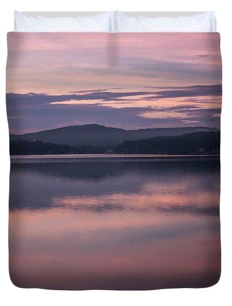 Spofford Lake Sunrise Duvet Cover