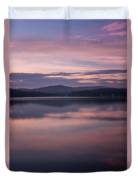 Spofford Lake Sunrise Duvet Cover
