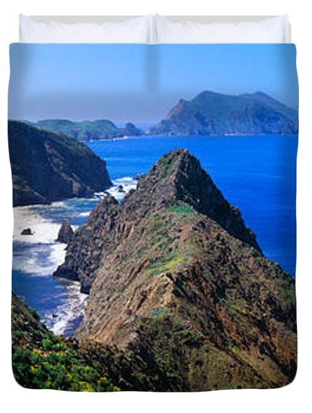 Spring At Anacapa Island, Channel Duvet Cover