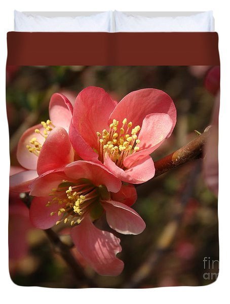 Spring Blooms Duvet Cover by Rebecca Overton