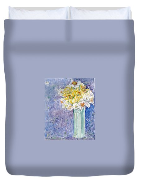 Spring Blossoms Duvet Cover by Jan Bennicoff
