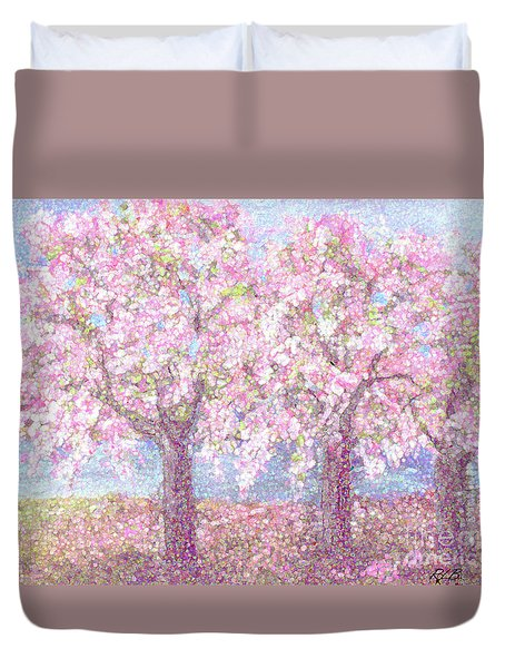 Spring Sprung Along The Charles Duvet Cover