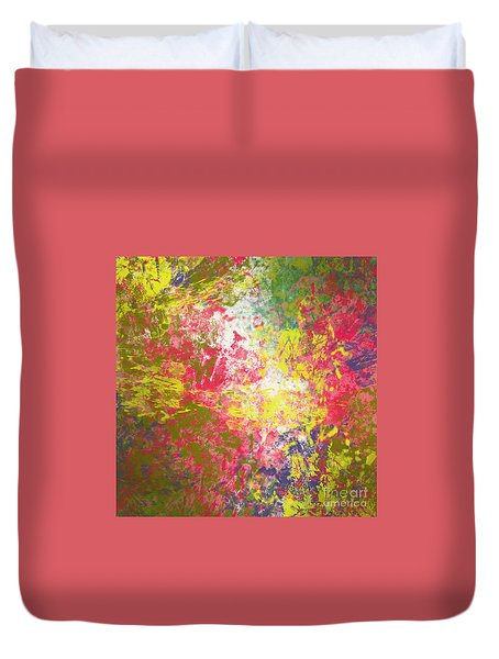 Duvet Cover featuring the digital art Spring Thoughts by Trilby Cole