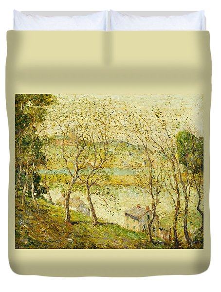 Springtime, Harlem River Duvet Cover