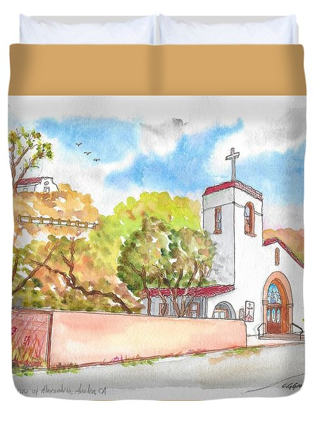 St. Catherine Of Alexandria Catholic Church, Avalon, Santa Catalina Island, Ca Duvet Cover