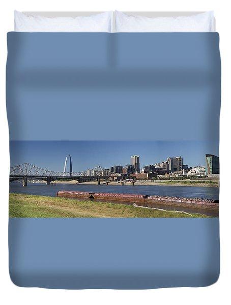 St Louis Skyline   Duvet Cover by Garry McMichael