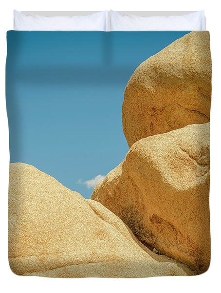 Stacked Boulders Joshua Tree Duvet Cover by Amyn Nasser