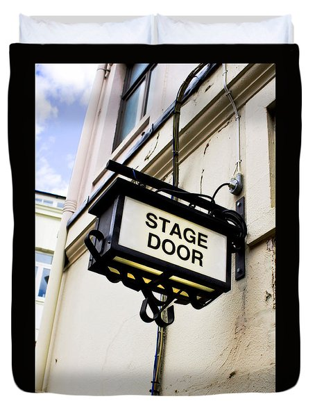 Stage Door Sign Duvet Cover
