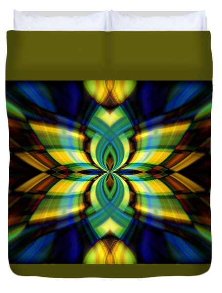 Stained Glass Duvet Cover by Cherie Duran