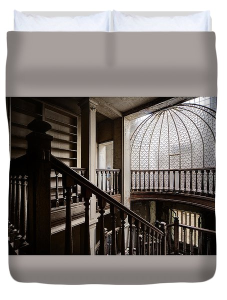 Dome Of Light - Abandoned Building Duvet Cover