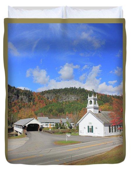Stark Village In Autumn Duvet Cover