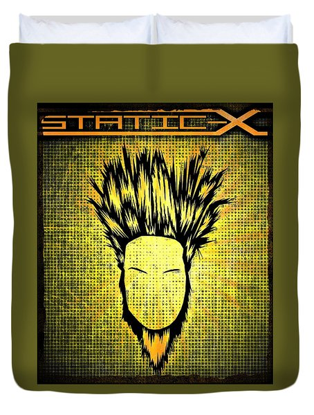 Static-x Duvet Cover by Kyle West