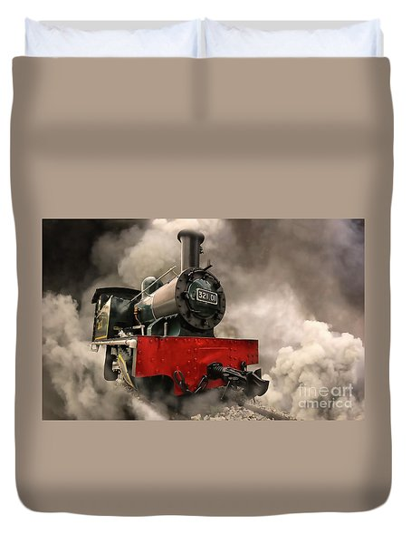 Duvet Cover featuring the photograph Steam Engine by Charuhas Images