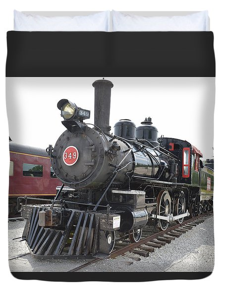 Steam Engline Number 349 Duvet Cover