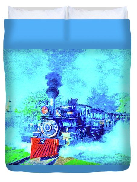 Edison Locomotive Duvet Cover by Dennis Cox