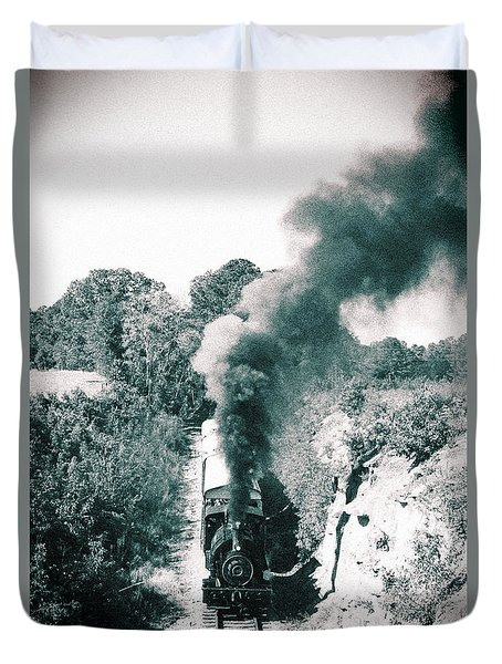 Duvet Cover featuring the photograph Steam On The South Carolina Railroad Museum 2 by Joseph C Hinson Photography