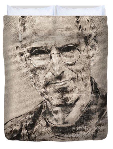 Steve Jobs Duvet Cover