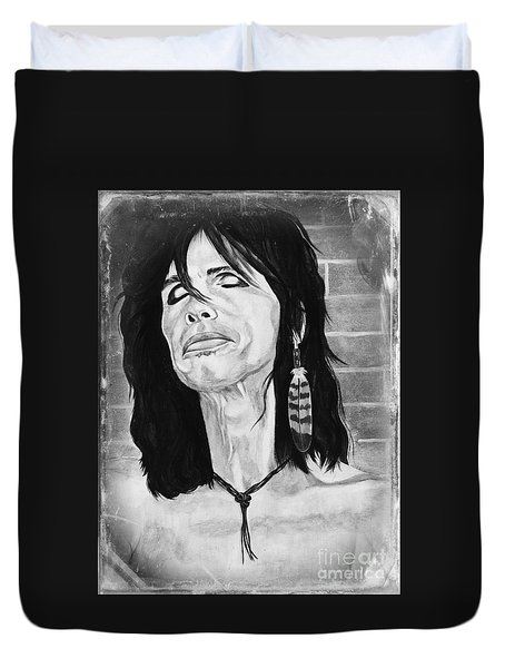 Steven Tyler Dreams On Duvet Cover by Jeepee Aero