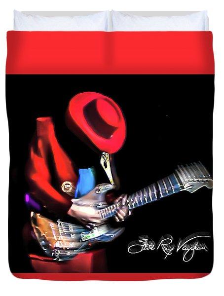 Stevie Ray Vaughan - Texas Flood Duvet Cover