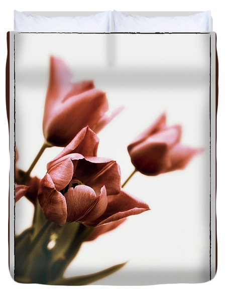 Duvet Cover featuring the photograph Still Life Tulips by Jessica Jenney